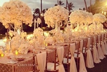 Wedding decor / All the lighting, drapery, and details involved in weddings