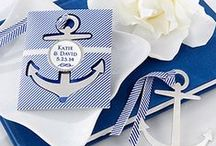 NAUTICAL WEDDING IDEAS MARITIME..NAVY, DUSK, ICE, WHITE / Anchors Away!! A Maritime theme is a great theme to celebrate your wedding. With its rich navy and white combination used in rope, sailboats, life ring preservers, anchors, lifesavers. Preppy stripes and seersucker are two materials that can be used for napkins, jackets and  tablecloths to add interest to the surroundings.
