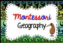 Montessori Geography / https://www.teacherspayteachers.com/Store/Montessorikiwi/Category/Montessori-Geography