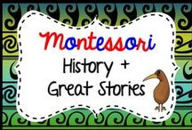 Montessori History + Great Stories / Montessori Elementary History: find my resources here: https://www.teacherspayteachers.com/Store/Montessorikiwi/Category/Montessori-Great-stories-lessons