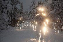 snow and ice art...