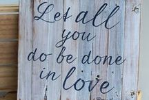 My Work: Wooden Signs / Inspired Passions blog - wooden signs