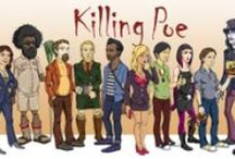 """""""Killing Poe"""" Movie Artwork / Character artwork and drawings from the feature film comedy movie """"Killing Poe."""" In post-production. Coming 2014."""