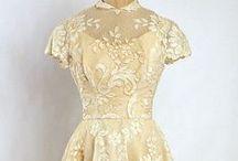 Vintage dress, clothes,..