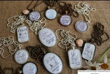 My Work: Necklaces and Shirts / Necklaces and Shirts with Bible Scripture or quotes. See my Etsy shop.