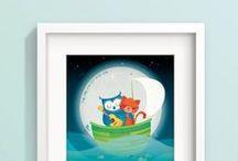 cute art prints / Cute nursery art