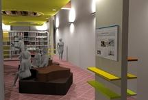 Ristrutturazione Ginestra - Foto lavori e Rendering / Rendering del progetto di ristrutturazione e allestimento Ginestra #biblioteca #cultura #centroculturale #valdarno #montevarchi