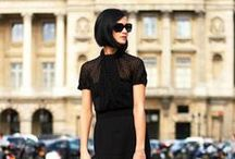 so chic in  black dress
