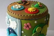 Barattoli di vetro/Jars / Barattoli di vetro decorati con varie paste modellabili
