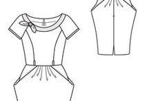 Fashion Flats / sewing pattern technical drawings
