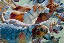 art with dogs
