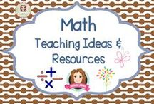 Math Teaching Ideas / A collection of teaching ideas and resources to support learning in math. (Guidelines for Invited Pinners: if you could pin up to 3 paid pins at a time and share a few unpaid pins as well that will help us keep a nice balance on the board for our followers.  If you'd like to be invited to pin please email me at sarahannescreativeclassroom@yahoo.com)