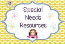 Special Needs Resources / A collection of resources for students with special needs. (Guidelines for Invited Pinners: if you could pin up to 3 paid pins a day and share a few ideas/unpaid pins as well that will help us keep a nice balance on the board for our followers. If you'd like to be invited to pin please email me at sarahannescreativeclassroom@yahoo.com)