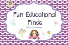 Fun Educational Finds / Sharing creative teaching ideas and products for all year groups  .   (Guidelines for Invited Pinners: if you could pin up to 3 paid pins a day and share a few unpaid pins as well that will help us keep a nice balance on the board for our followers. If you'd like to be invited to pin please email me at sarahannescreativeclassroom@yahoo.com)  **Invited Pinners - Could you please pin more ideas with the paid products PLEASE :) ***