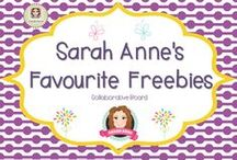 Sarah Anne's Favourite Freebies for Teachers / A collection of fun and fabulous teaching ideas and freebies from the creative teacher-authors at www.teacherspayteachers.com