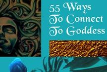 55 Ways to Connect to Goddess / Illustrated ways to connect with the divine Goddess. Sacred, sensual, and  sublime these representations of the primal feminine resonate within us all. Please check out my New book 55 Ways to Connect to Goddess for more inspiration, spells, and information. http://www.blackbrigit.com
