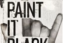 Paint it Black (and White) / Icons; be it actor, musician, author, celebrity....