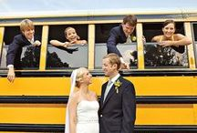 Weddings and Buses / We have yellow school buses and motorcoaches for wedding transportation in the Orange County , Los Angeles and Inland Empire.