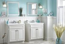 Beautiful Bathrooms | Haas Cabinet / We don't just do kitchen cabinets. Our wide selection of cabinets for the bathroom are vast! Check out these from all over the USA. Actual homes are represented. For more information, visit our website. HaasCabinet.com. Find a dealer that's closest to you!