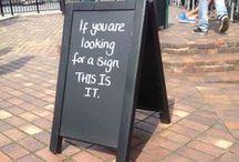 Chalkboard Quotes / Quotes voor op bordjes in een restaurant