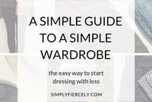 Capsule wardrobes / Capsule wardrobes - jak si uspořádat šatník, žít s minimem oblečení a pořád mít co na sebe...