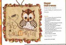 ༺ ♥ Cross Stitch Halloween ♥ ༻