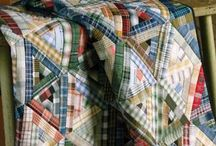 Men / masculine quilt / Quilts in form and colors for men