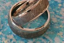 Gibeon Meteorite Rings for Couples / Rings crafted from the 4.5 Billion year old Gibeon Meteorite.