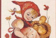 ༺ ♥ Cross Stitch Hummel ♥ ༻