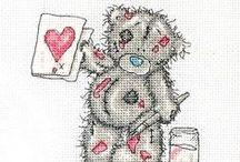 ༺ ♥ Cross Stitch Tatty Teddy ♥ ༻