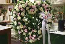 Custom Flower Arrangements / Examples of flower arrangements people have ordered to celebrate the hobbies and interested of their loved ones.