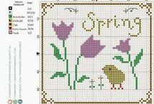 ༺ ♥ Cross Stitch Spring ♥ ༻