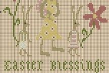 ༺ ♥ Cross Stitch Easter ♥ ༻