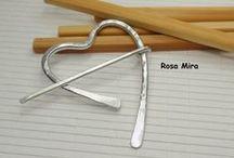 Joyas con alambre Rosa Mira / Wire jewelry Rosa Mira