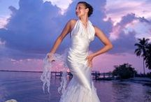 Non-Traditional Beach Wedding Dresses / Luxurious destination beach wedding dresses. Custom Ordered. Hand Made. Hand Painted.