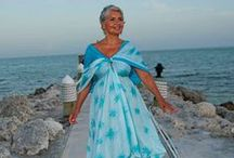 Mother of the Bride Beach Wedding Dresses / Luxe Mother of the Bride dresses for the islands.  Custom Ordered. Hand Made. Hand Painted.