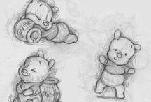 Art / Inspirerende tekeningen waar ik vast iets mee kan!