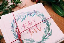 Weihnachtskarten - Inspiration und selber machen / Schöne Ideen für selbstgemachte Weihnachtskarten. Schreibst du jedes Jahr Karten an deine Liebsten? Dann bist du hier genau richtig. Entdecke jede Menge DIY Ideen und Inspiration um schöne Weihnachtskarten zu basteln und selber zu machen. Ob mit Papier, Watercolor oder Lettering.
