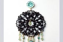 Orecchini collezione inverno-Filigrane in ecopelle / Orecchini creati a mano. Handmade earrings.