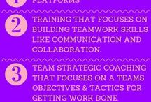"Team Building Tips / Here is a good working definition of a team: A team is a small group of people committed to a common goal, with defined processes that enable their work to proceed efficiently. A working group is a larger number of people who perform collaboratively but are not as ""in sink"" as a real team."