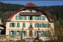 Boveresse / Le village de Boveresse au Val-de-Travers (Suisse).