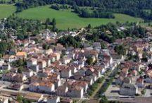 Fleurier / Le village de Fleurier au Val-de-Travers (Suisse).