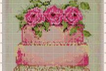 kanaviçe  mutfak, kanvas kitchen,cross stitch kitchen / Mutfaklar için sevimli şablonlar