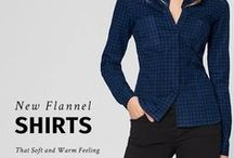 Flannel Shirts / You need to have a flannel shirt in your wardrobe! It's soft and keeps you warm: get yours sumissura.com   #flannel  #shirts #tailored #femaleshirts