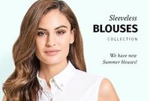 Sleeveless Blouses / Check out our new collection of made to measure sleeveless blouses! Find more at Sumissura.com