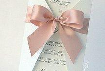 Scrapbooking. Wedding invitation