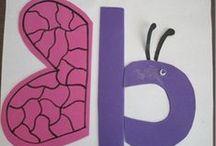 ✪ Alphabet Craft ABCDE / Letter crafts: Letters A,B,C,D & E