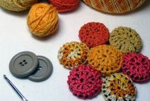 buttons & others / Ideas on how to make your own buttons and how to use up your button box!  As well as lots of other trimming ideas... Pom poms are not just for yarn ends!