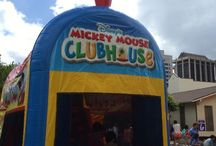 Mickey Mouse Choo Choo Train / The Mickey Mouse Choo Choo train 3 in 1 combo inflatable bounce house. To reserve this unit for your next party, visit our website at http://www.hijumprentals.com/mickeys-choo-choo-express/