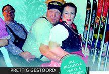 Themafeest Kansloos skihutfeest / Het entertainmentteam van het Kansloos skihutfeest is te reserveren als bedrijfsfeest, personeelsfeest, buurtfeest, familiefeest, tentfeest of andere gelegenheid op iedere gewenste locatie of festival in Nederland of als open inschrijffeest (vanaf 4 personen) of all-inclusive besloten themafeest op onze vaste locaties.